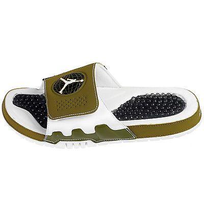 b88af33afcd8 Nike Jordan Hydro IX 9 Retro Mens 768936-303 Militia Green Slide Sandals  Size 8