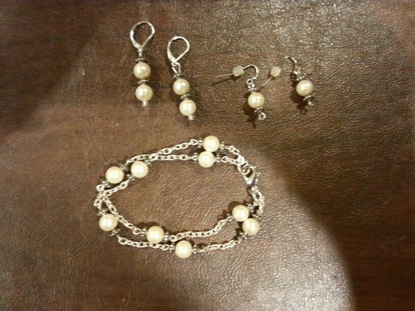 Made all this with one long necklace.