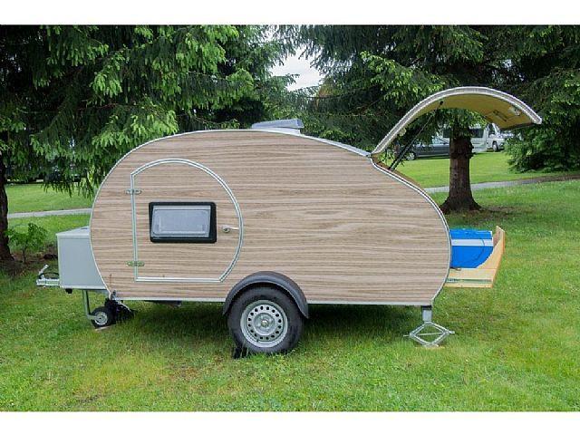 sonstige other teardrop mini compact trailer wohnwagen. Black Bedroom Furniture Sets. Home Design Ideas