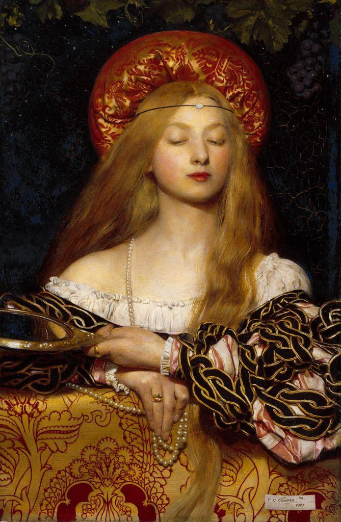 Vanity 1907 By English Pre Raphaelite Painter Illustrator