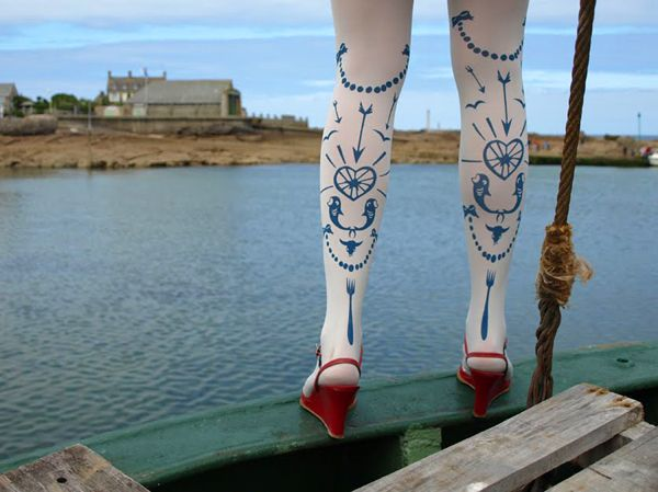 Creative Fashion Tights from Les Queues de Sardines