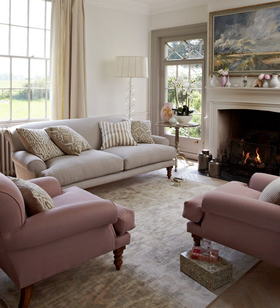Angus accent arm chair brown buy seating living room store - Our Saturday Two And A Half Seat Sofa In Taupe Brushed Linen Cotton And The Saturday Armchair In Thistle Pure Belgian Linen Fabric Discontinued