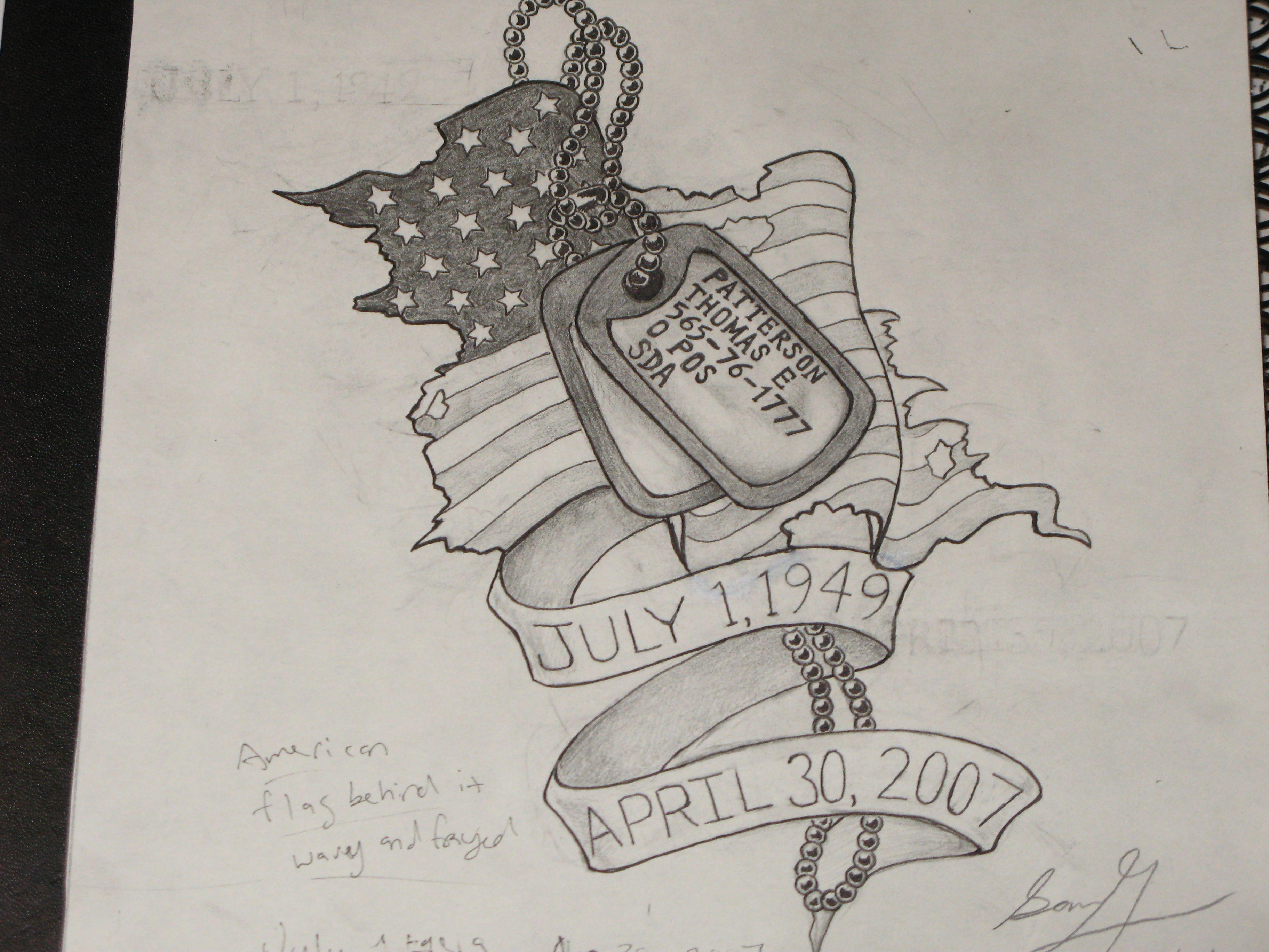 Military Memorial Dog Tag Tattoos