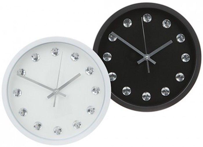 New Quartz Diamante Kitchen Office Wall Retro Bling Clock