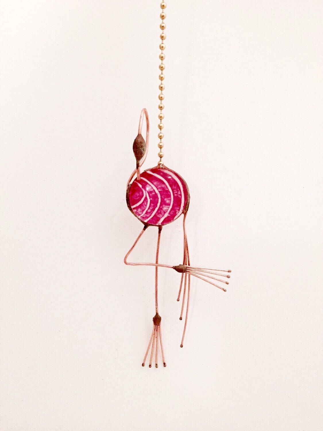 GRAPHICS /& MORE Pink Flamingo in Water Ceiling Fan and Light Pull Chain