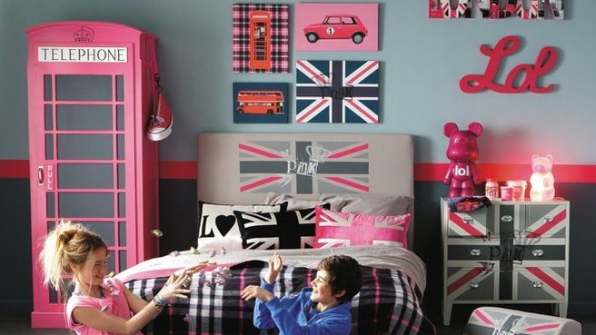 Id e decoration chambre ado london room decor bedrooms for Decoration theme angleterre