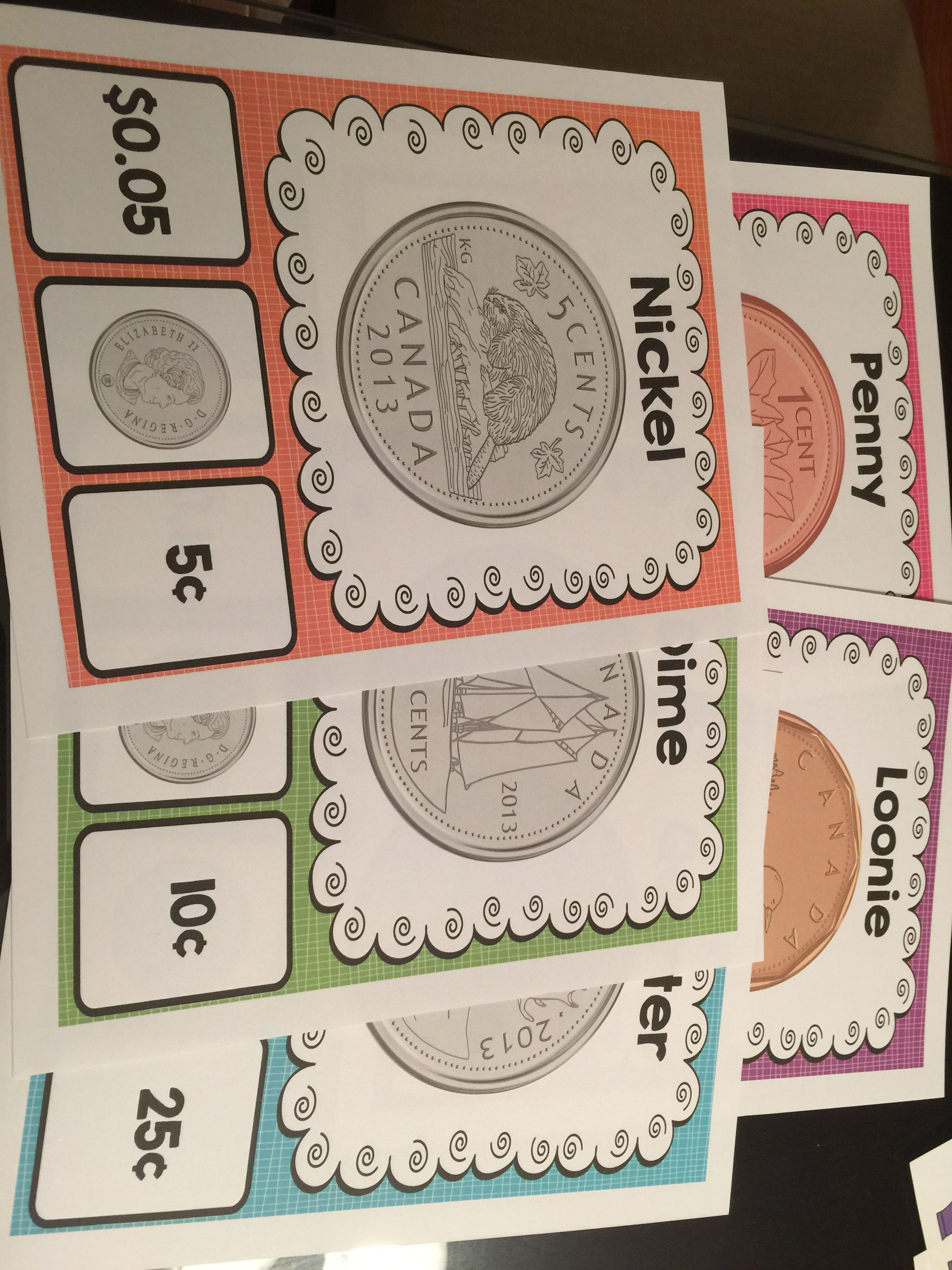 Canadian Money Activities And Posters Canada Unit