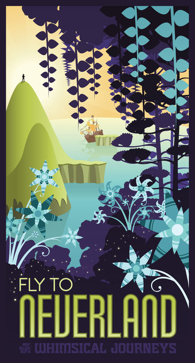 Travel poster to Neverland