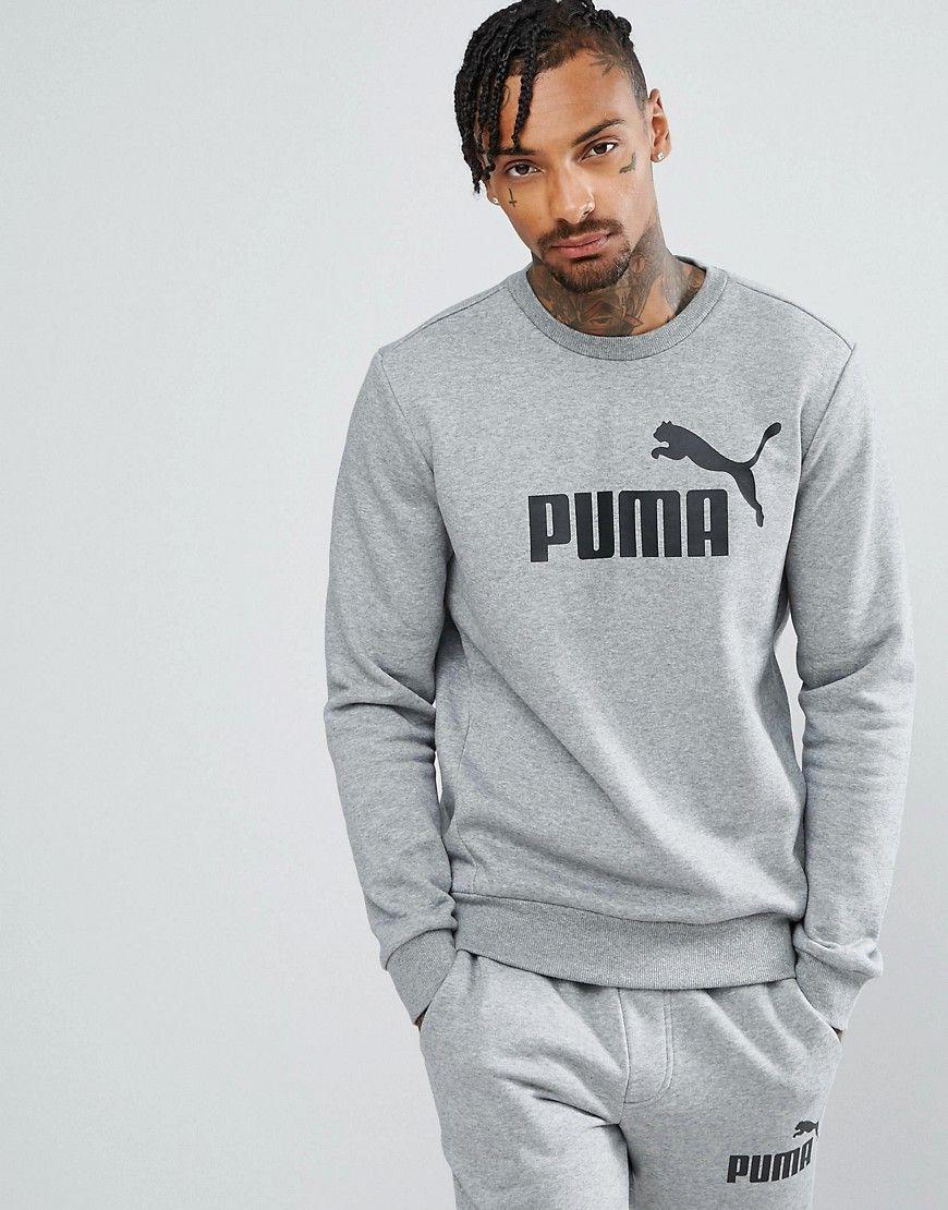 616879426e Puma ESS No.1 Crew Neck Sweatshirt In Gray 83825203   deport ...