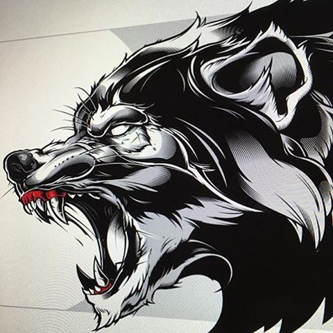 375 Likes 8 Comments Wacom Tattoo Team Wacomtattooteam On Instagram Sweyda Sweyda Sweyda Wolf Tattoo Design Gangster Tattoos Wolf Tattoo