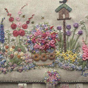 Country Garden Scissorkeeper - Full Kit, Embroidered Country Garden Scissorkeeper - Full Kit,