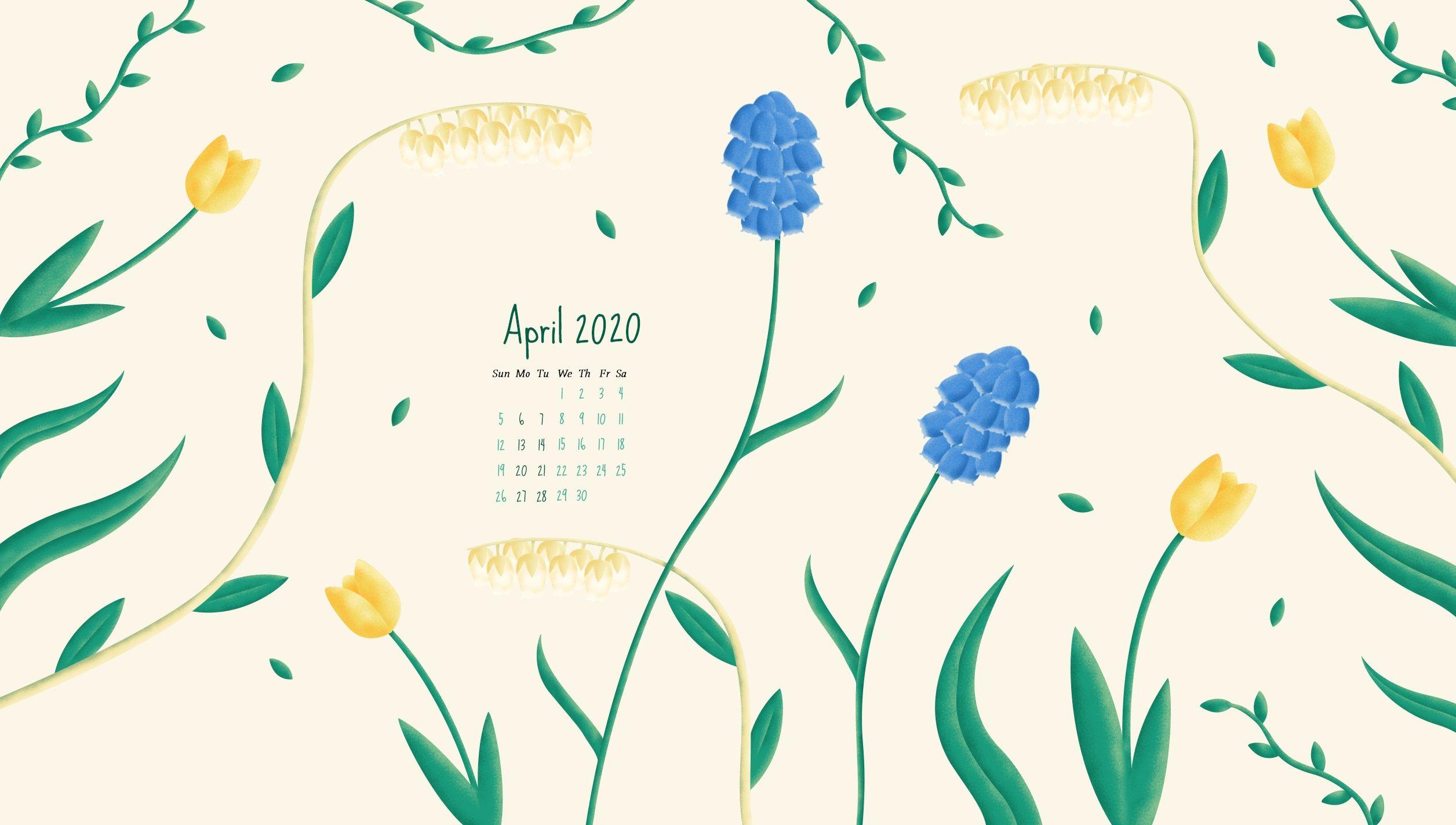 April 2020 Calendar Wallpaper – Desktop and iPhone in 2020 ...