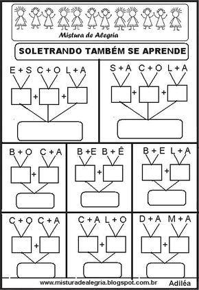SOLETRANDO E APRENDENDO A LER E ESCREVER PALAVRAS, PARA IMPRIMIR ...