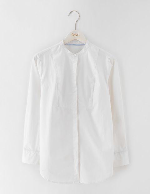 Das Girlfriend-Hemd ohne Kragen WA730 Blusen bei Boden