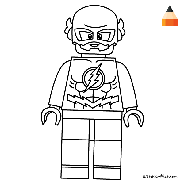 Coloring Page For Kids How To Draw Lego Flash Dibujos Para Pintar Faciles Flash Dibujo Superheroes Dibujos