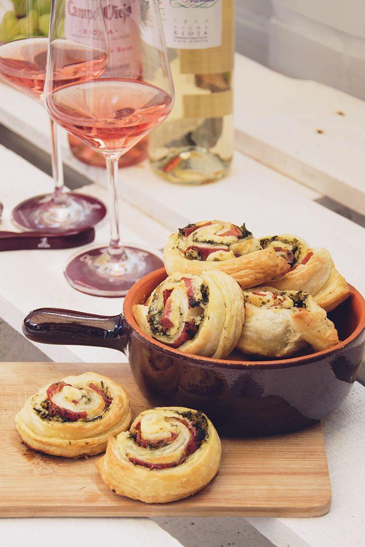 Rezept Tapas Serrano Schnecken - für einen leckeren Weinabend mit Freunden.