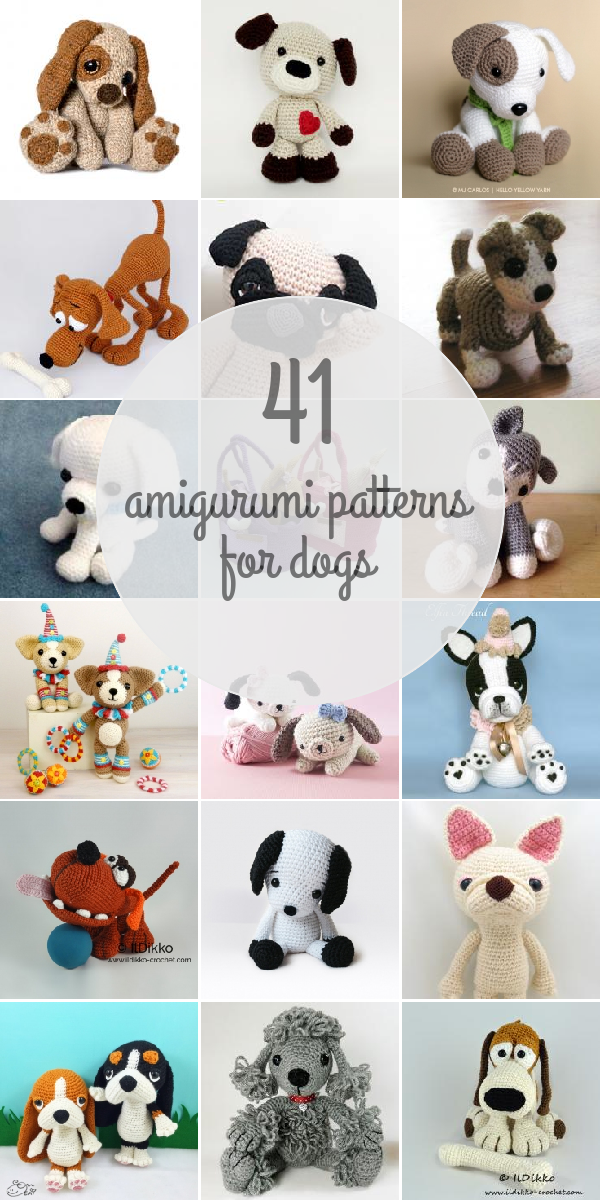 Amigurumi Patterns For Dogs | Amigurumi | Pinterest | Patrones ...