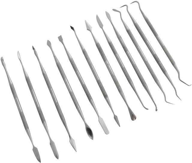 12Piece Stainless Steel Wax Carving Set Double Ended Carving Tools