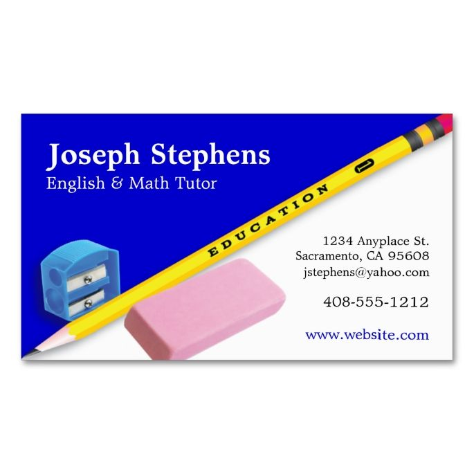 Teacher, Mentor or Tutor Business Card. Make your own business ...