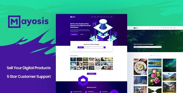 Mayosis - Digital Marketplace WordPress Theme Mayosis - Digital Marketplace WordPress Theme    What is Mayosis – Digital Marketplace Theme? If you want to sell your items such as templates, arts, tutorials, music, ebooks, stock photography, stock footage, themes, plugins, code snippets, Soft...    -