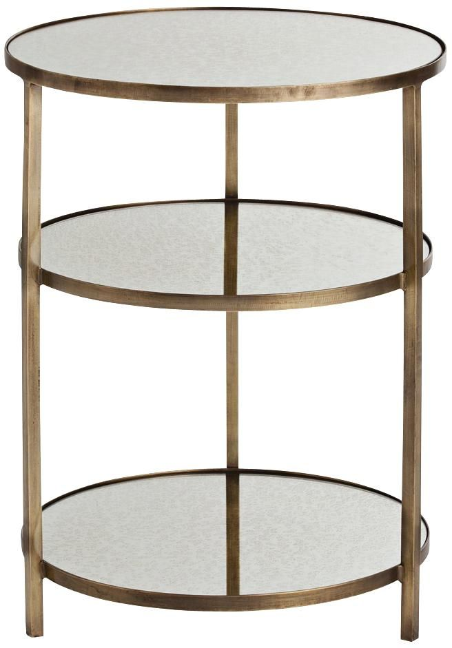 d2f2c9982cee Arteriors Home Percy Antique Brass End Table
