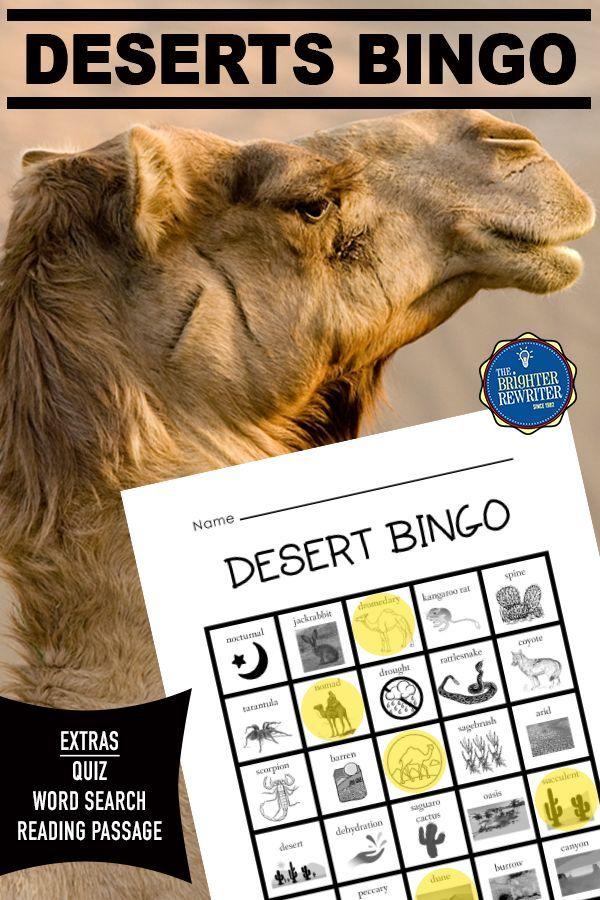 Desert Habitats Activities in 2020 Vocabulary activities