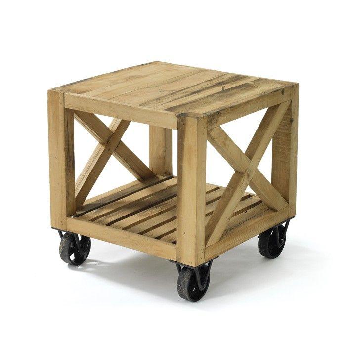 Chatsworth Reclaimed Wood Side Table | Wood | Pinterest | Reciclaje ...