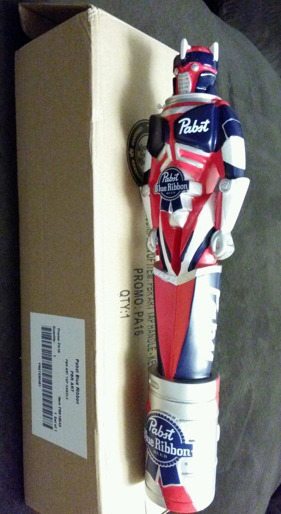 9b9a086e563ef Pabst Blue Ribbon Art Beer Tap Handle - New/In Box!! PBR Robot | My ...