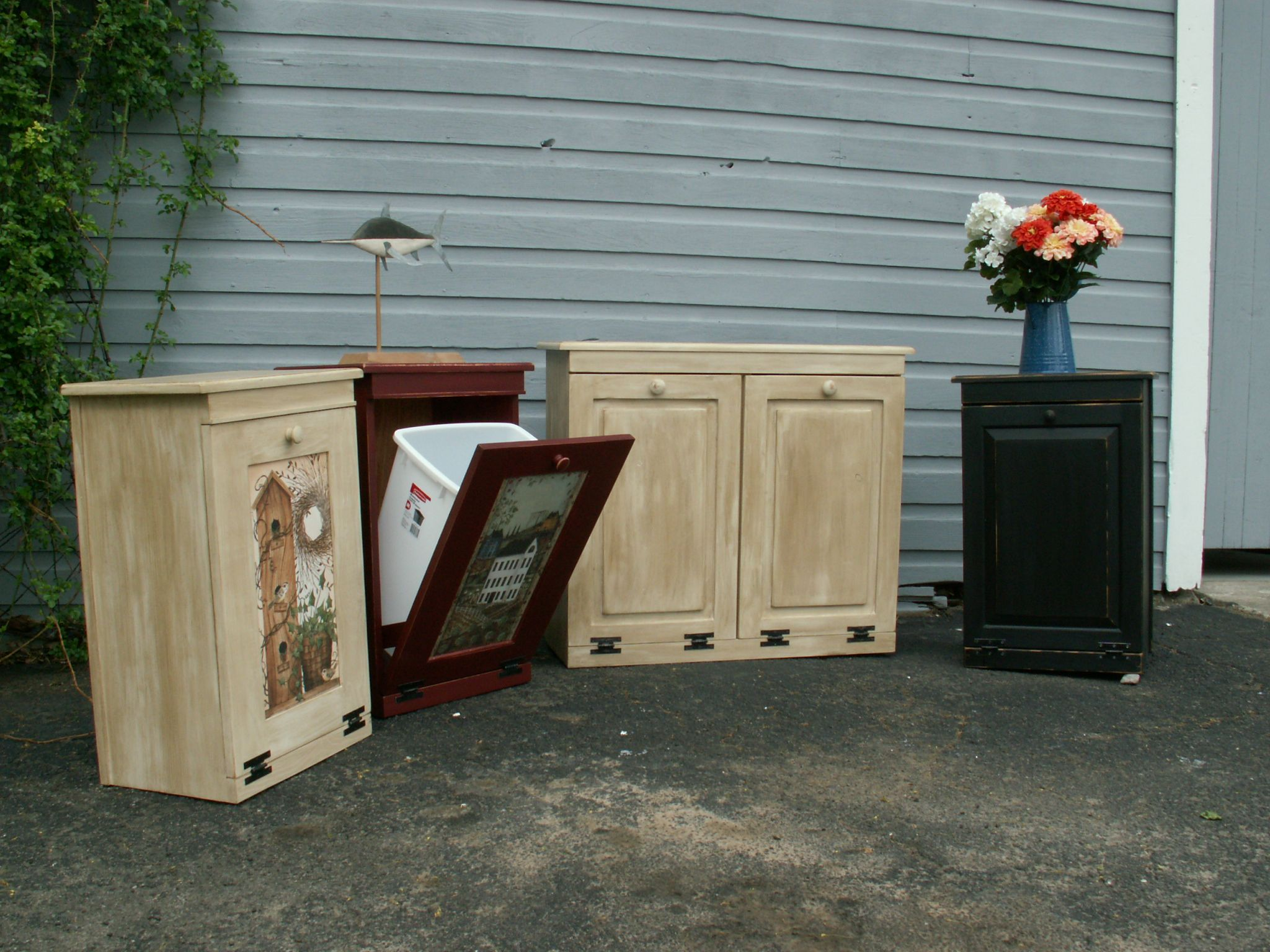 Garbage And Recycling Cans | Trash Can / Recycling Can Cabinets