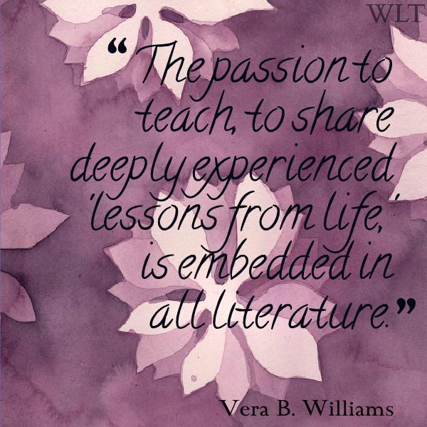 Vera B. Williams literature quote