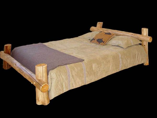 The Outback - Rustic Log Cedar Bed | Home Sweet Home | Pinterest ...