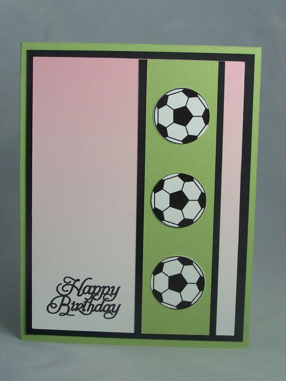 Handmade Greeting Card Soccer Birthday Card Son Daughter Child 39 S Children 39 S Kids Birthday Cards Dad Birthday Card Diy Birthday Card For Boyfriend