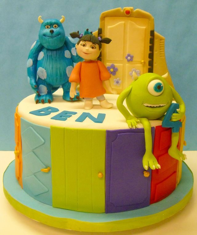 Cool Monsters Inc Birthday Cake Birthday Cakes Monsters And Cake