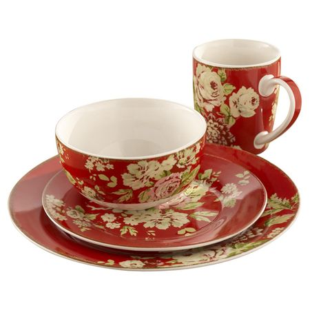 I pinned this 16 Piece Waverly Dinnerware Set from the Colors of Christmas event at Joss  sc 1 st  Pinterest & I pinned this 16 Piece Waverly Dinnerware Set from the Colors of ...