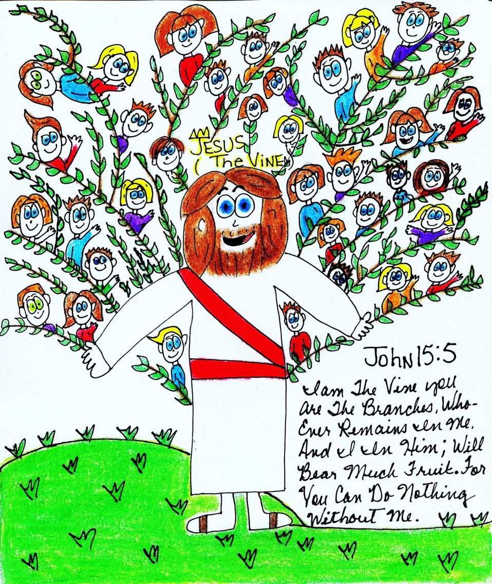John 15 5 i am the vine you are the branches for Vine craft ideas