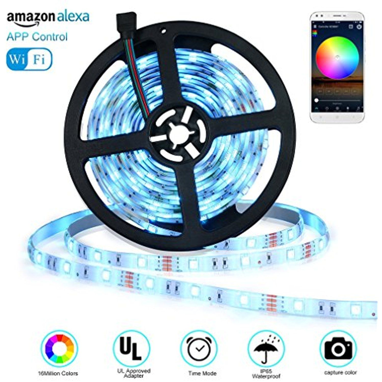 Alexa Control LED Strip Lights Outdoor Wireless Smart