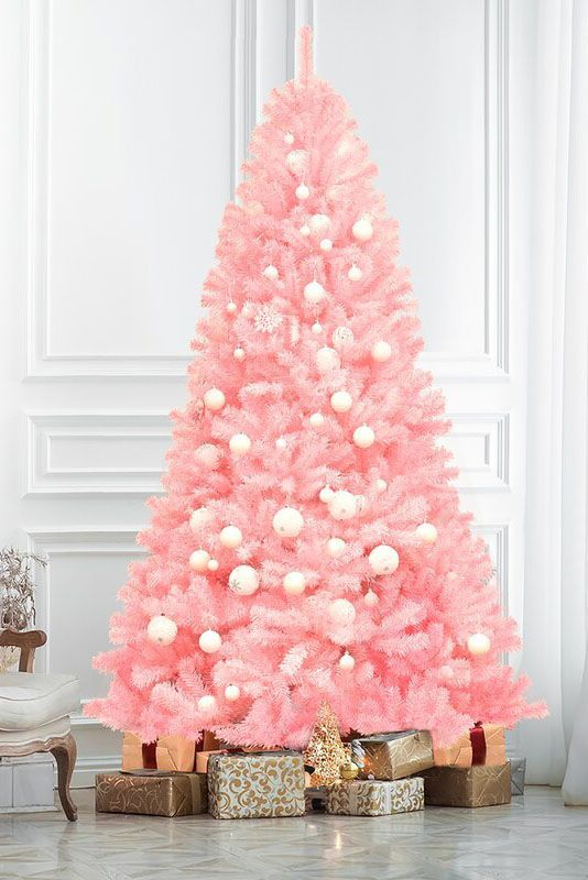 11 Pretty Pink Christmas Decorations to Decorate Your Home -   17 christmas tree decor 2020 pink ideas