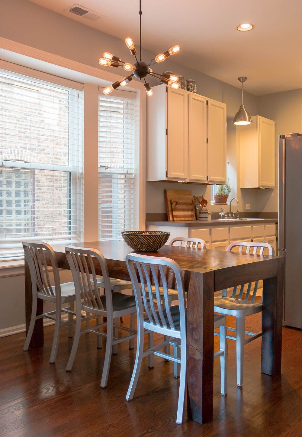 Tour a Bright, Eclectic Chicago Condo | Dining area, Spaces and Condos