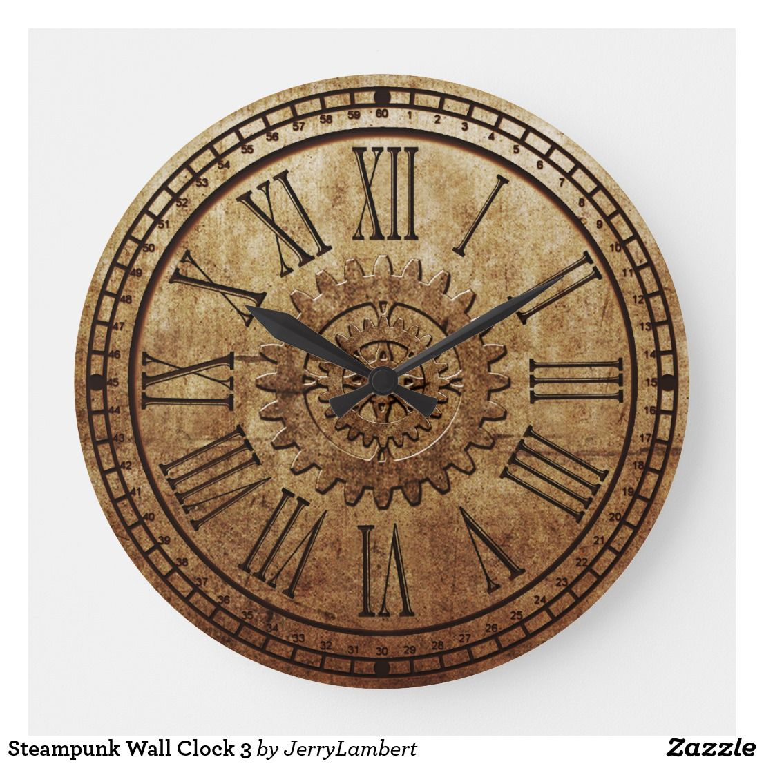 Steampunk Wall Clock 3 Zazzle Com With Images Wall Clock