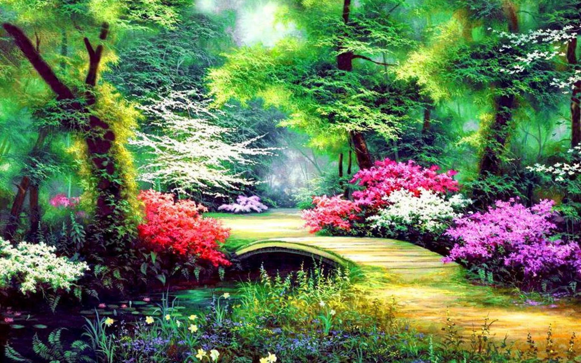 Enchanted Garden: Enchanted Garden Wallpapers
