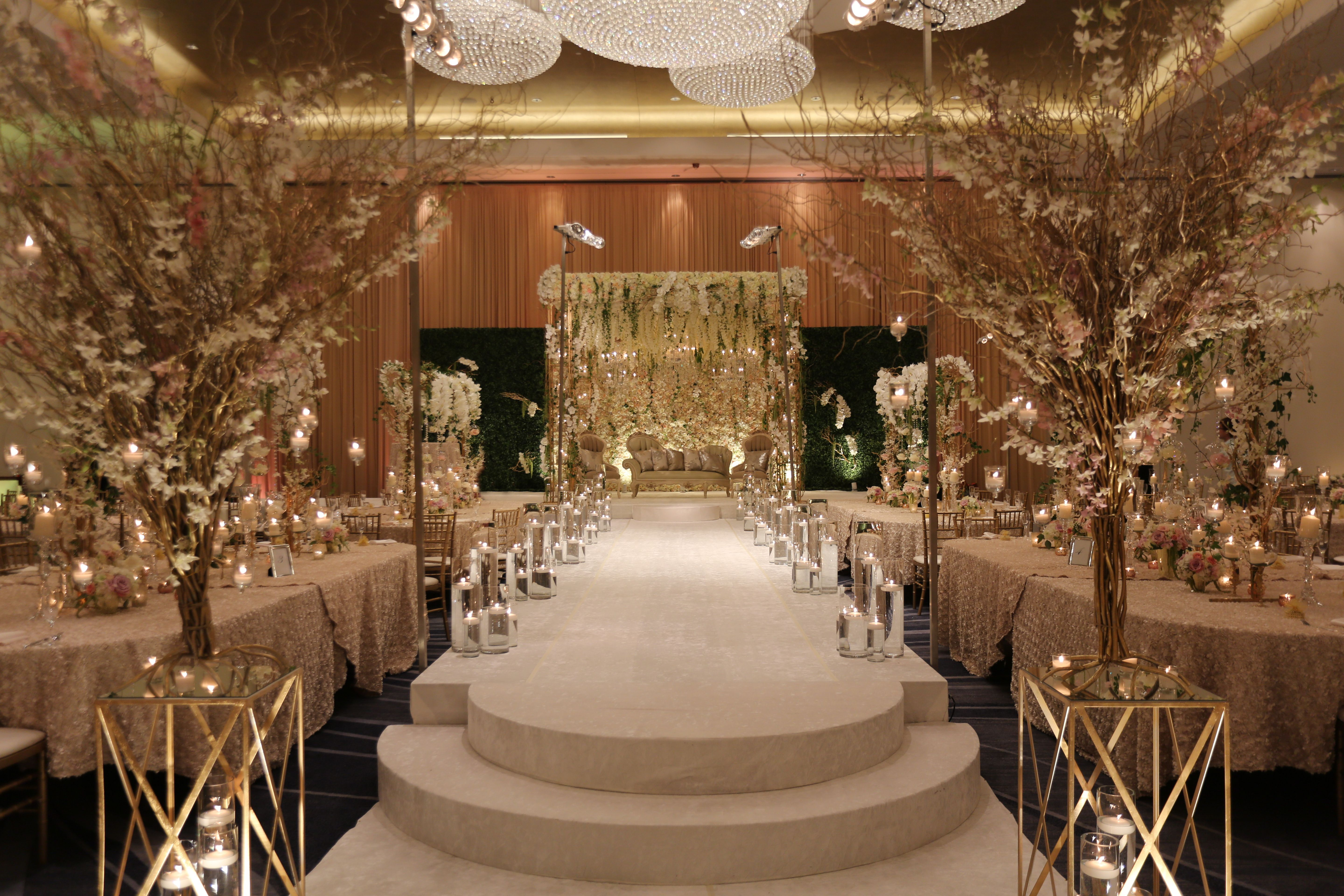 Wedding decorations tulle and lights  Pin by Yanni Design Studio on Hotel Ceremony  Pinterest  Wedding