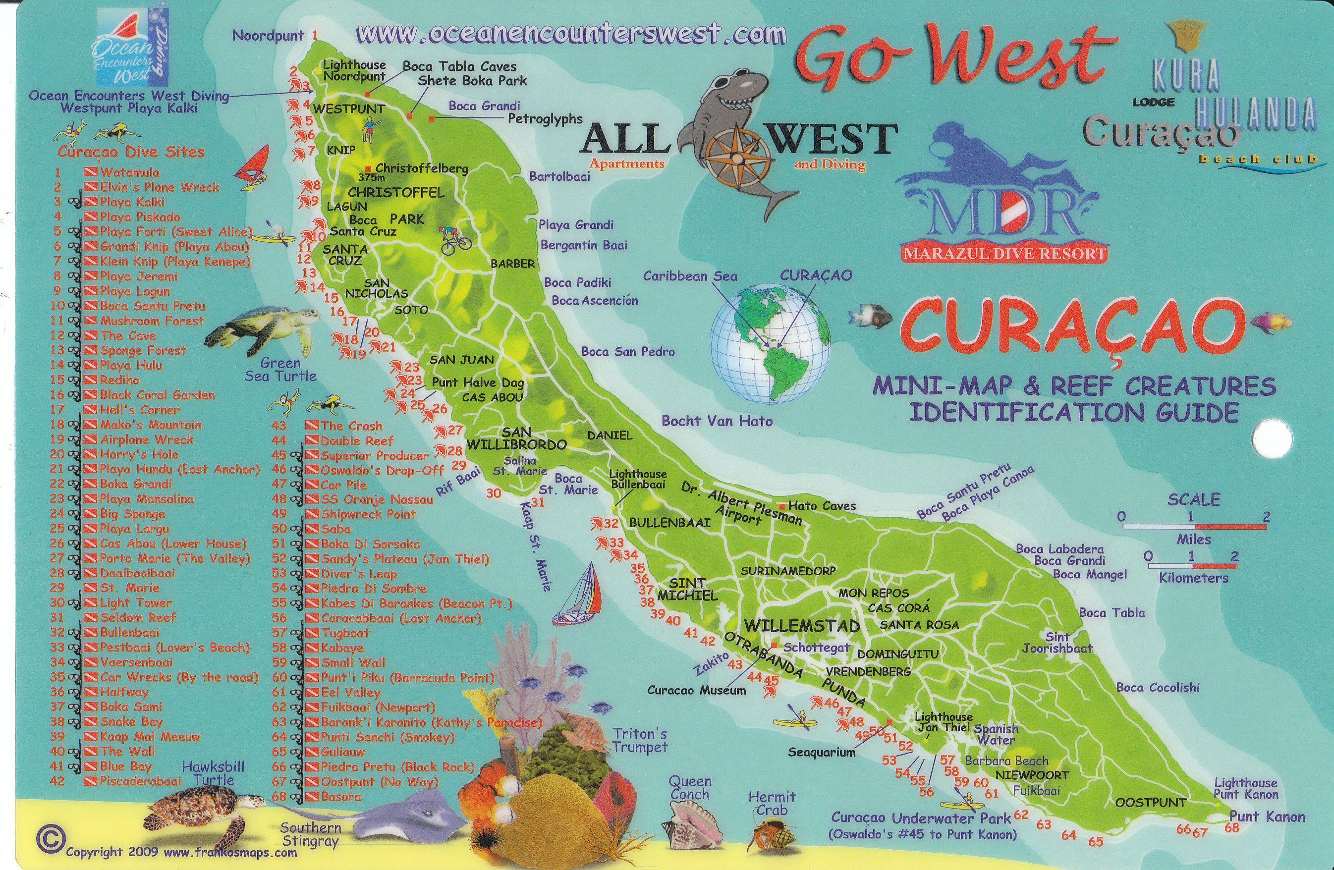 Curacaodivemapjpg 26921756 pixels Vaca Curacao Pinterest