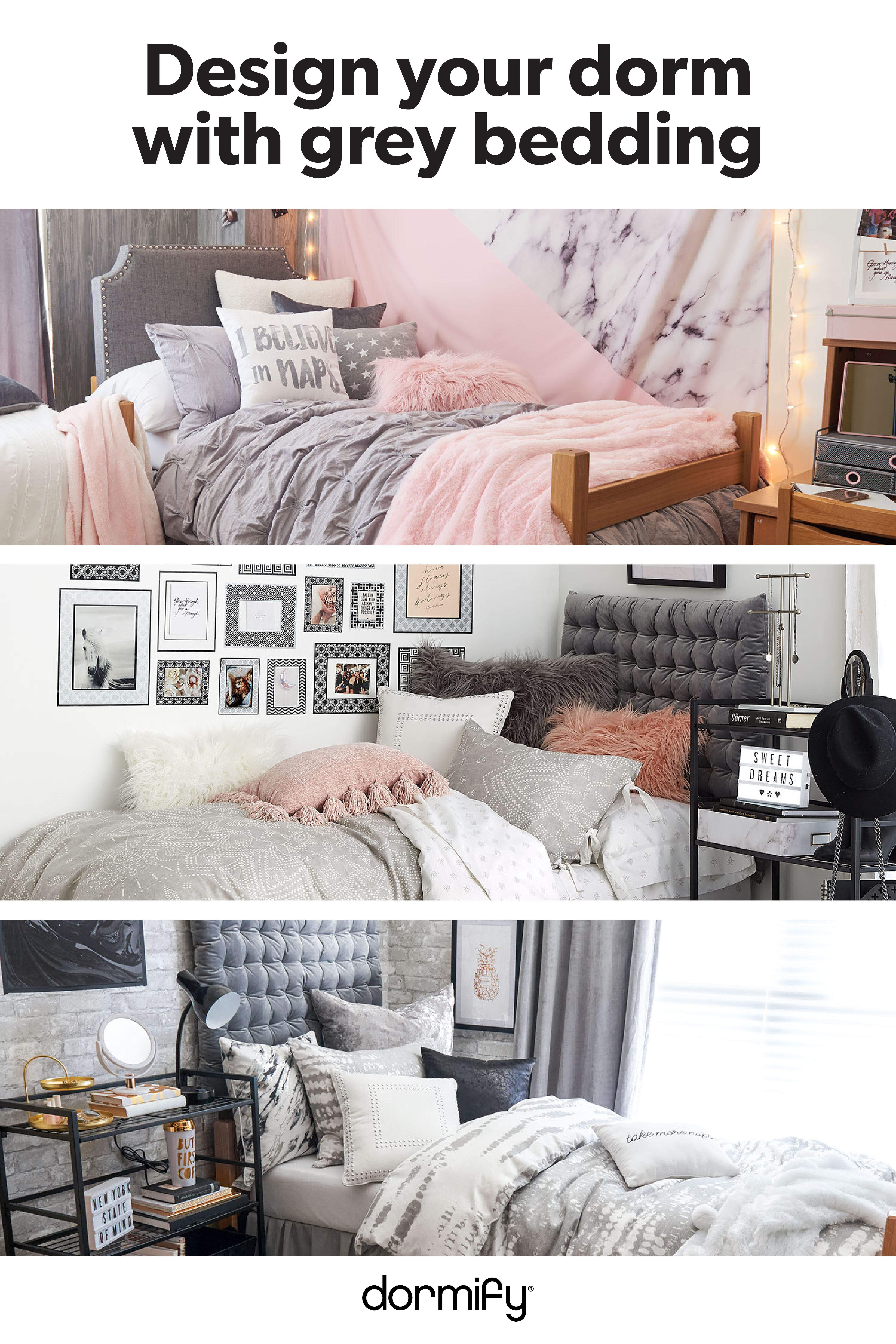 Dorm Room Furniture: Styling Your Dorm With Grey Bedding? Check Out Our