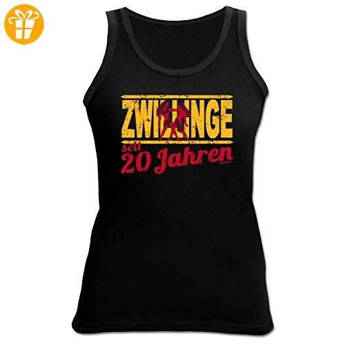 Damen Tank Top zum 20.Geburtstag : Zwillinge / Sternzeichen 20 Jahre -  Damen T