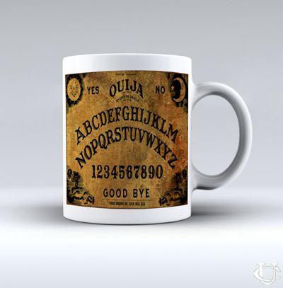 Ouija Board Vintage White Mug