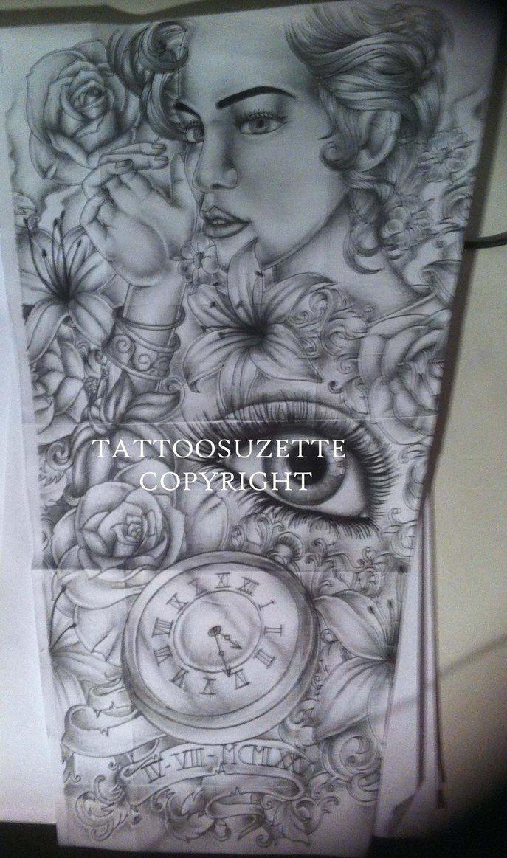 Full sleeve tattoo sketch new tattoos sleeve tattoo for Forearm tattoo sketches