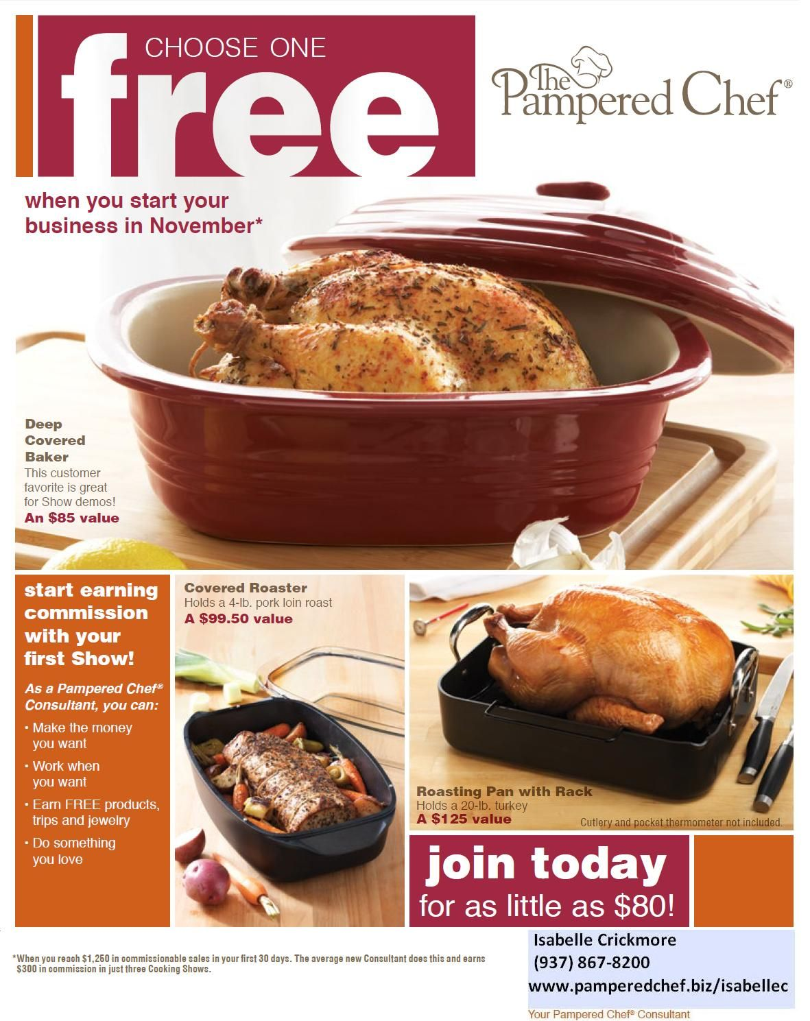 FREE Deep Covered Baker, Covered Roaster or Roasting Pan with Rack!!! #ThePamperedChef