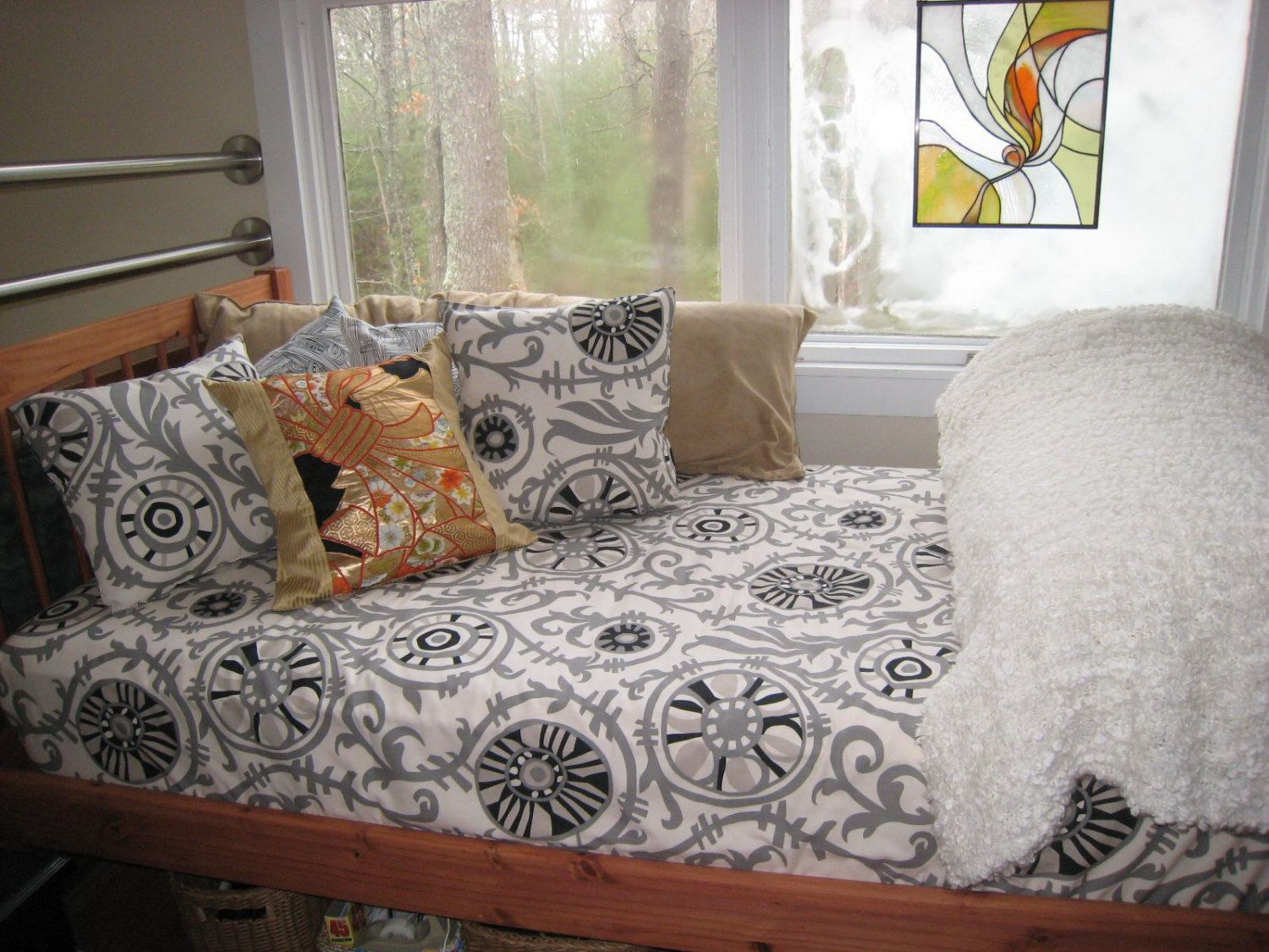 Fitted Daybed Cover In Customers Own Material Com Twin Twin Etsy