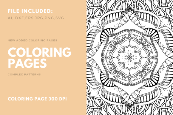 Geometric Coloring Book For Kdp Graphic By Stanosh Creative Fabrica In 2020 Coloring Books Coloring Book Pages Coloring Pages