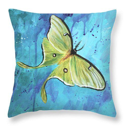 Luna Moth Pillow by Brigitte Miller